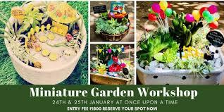 miniature garden work