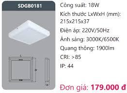 ĐÈN LED ỐP TRẦN NỔI VUÔNG VIỀN MỎNG 18W DUHAL - SDGB0181 – ĐÈN DUHAL, ĐÈN  LED DUHAL