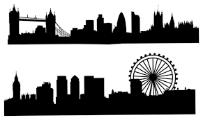 London Skyline Silhouette Wall Decal Contemporary Wall Decals By Dana Decals