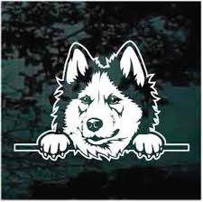 Siberian Husky Peeking Car Window Decals Stickers Decal Junky