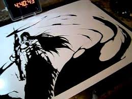 Vinyl Sticker Time Lapse Ichigo Kurosaki Final Getsuga Tenshō From Bleach Youtube