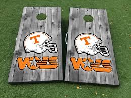 Product Tennessee Vols Football Cornhole Board Game Decal Vinyl Wraps With Laminated