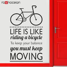 hot promo eed einstein quotes wall decal life is like riding a