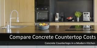 compare concrete countertop costs