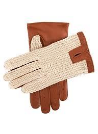 men s crochet back driving gloves