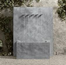 flat spouts outdoor wall fountains
