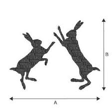 boxing hares stencil reusable wall