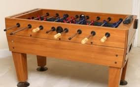 lot art harvard foosball table