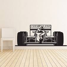 Formula 1 Sports Race Car Racing Wall Decal Vinyl Poster Decor Sticker Wall Art Mural Racing Decal Racing Decor Race Car Decal Wish