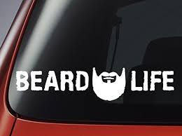 Beard Life Decal Car Window Sticker Buy Online In Guernsey At Desertcart