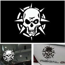 Storm Skull Logo Car Sticker Window Ghost Rider Graphic Reflective Vinyl Decal Vinyl Decals Car Stickers Skull Logo