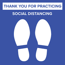 Social Distancing Floor Graphic Removable Vinyl Decal