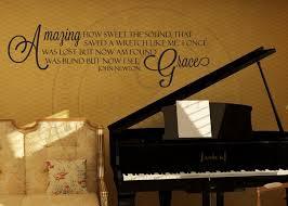 Amazing Grace Song Vinyl Wall Statement Vinyl Quote012