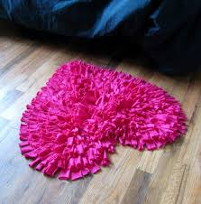 heart shaped rug in hot pink