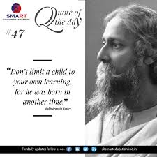 rabindranath tagore educational quote smart education and career