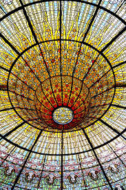 stained glass cupola glass light