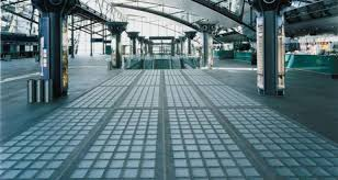 glass block paving installation system