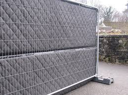 Noise Barrier On Temporary Fence For Construction Site Acoustic Panels Manufacturer