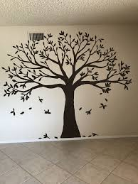Family Tree Murals For Walls Brown Flat Paint Family Tree Tree Wall Murals In 2020 Family Tree Painting Family Tree Wall Art Tree Wall Murals