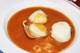 Poached scallops & lobster bisque ...