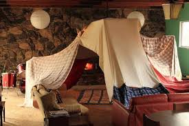 21 Cozy Sanctuaries To Shelter You From Adulthood Living Room Fort Blanket Fort Living Room Pillows
