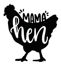 Amazon Com Wickedgoodz Custom Mama Hen Chicken Vinyl Decal Personalized Hen Sticker Pick Your Size And Color Handmade