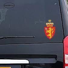 Norwegian Coat Of Arms Sticker Decal Car Truck Vinyl Norway Flag Car Decor