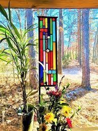 glass garden yard art