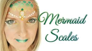 easy mermaid scale makeup face paint
