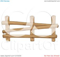 Clipart Of A Log Farm Fence 2 Royalty Free Vector Illustration By Visekart 1216435