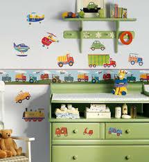 Transport Wall Border Roommates Self Adhesive Transport Wall Border Kids Rooms Ebay
