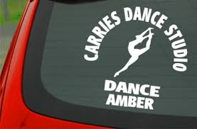 Personalized White Dance Spirit Decals