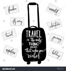 travel inspiration quotes lettering travel only stock vector