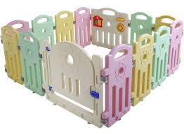 Amazon Com Baby Playpen Playard For Babies Infants Toddler 14 Panels Safety Kids Play Pens Indoor Baby Fence With Activity Board Baby