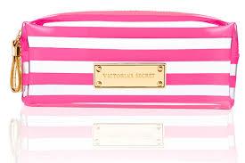 secret signature stripe cosmetic bag