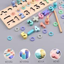 Bộ đồ chơi trí tuệ cho bé học chữ số tập đếm kèm bộ câu cá Đồ chơi ...