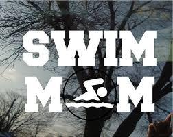 Vinyl Car Window Decal 4h X 6w Swim Mom With A By Vinylartstudio 5 00 Swim Mom Swimming Moms Swim Team