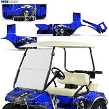 Amazon Com Wholesale Decals Golf Cart Graphics Kit Sticker Decal Compatible With Club Car 1983 2014 Reaper V2 Blue Automotive
