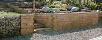 garden retaining walls using woodblocx