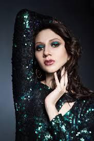 woman with beautiful evening makeup