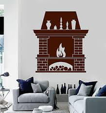 Viny Wall Decal Fireplace Fire Home Interior Room Stickers Ig3821 Ebay
