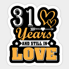 love 31st wedding anniversary shirt