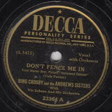 Bing Crosby And The Andrews Sisters With Vic Schoen And His Orchestra Don T Fence Me In The Three Caballeros 1944 Shellac Discogs