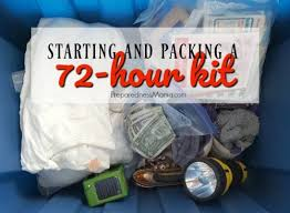 starting your 72 hour kits how to