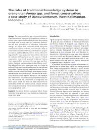 pdf the roles of traditional knowledge