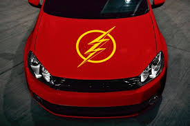 The Flash Hood Decal 23 Multi Use Vinyl Sticker For Etsy
