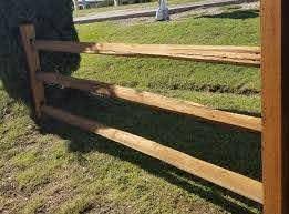 Rustic Western Cedar Split Rail Fence Fence Supply Online