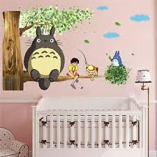 Miyazaki My Neighbor Totoro Fishing Wall Sticker Anime Decal Kid Nursery Bedroom Ebay
