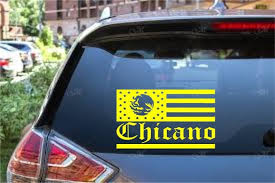 Mexican American Flag Decal Chicano Sticker Mexican Flag Etsy