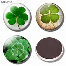 Four Leaf Clover 30mm Fridge Magnet Shamrock Lucky Note Holder Glass Cabochon Magnetic Refrigerator Sticker Home Decoration Th4j Buy Magnets India Buy Magnets Ireland From Hubilei 21 47 Dhgate Com